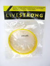 LiveStrong Nike NEW Original YOUTH Yellow Bracelet Wristband Live Strong Cancer