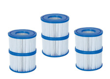 6 Pack Bestway Coleman Type VI Spa Filter Cartridge for Lay-Z-Spa 58323