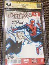 Amazing Spider-man 1 1st Cindy Moons Silk 9.6 CGC Original Art Greg Land 3x Auto