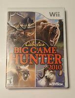 Cabela's Big Game Hunter 2010 (Nintendo Wii, 2009) CIB Tested