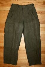 Swedish Military Pants Thick Reinforced Adjustable Wool Tactical 31 - 30 Sweden