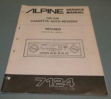 ALPINE AM-FM Stereo Cassette Receiver 7124 Service Manual