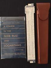 "Vintage Lutz Slide Rule No.151-P U.S. 14"" Ricoh/Relay Japan SCARCE w/Case & Book"
