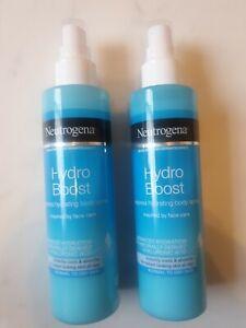 2 x Neutrogena Hydro Boost Express Hydrating Body Spray 200ml NEW