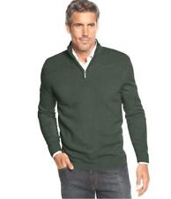 Geoffrey Beene Men's Size Small Hunter Green Pullover 1/2 Zip Sweater NEW