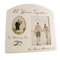 Silver 25th Wedding Anniversary Multi Photo Picture Frame Keepsake Gift FW82925