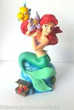 Disney Parks Ariel The Little Mermaid Musical Figurine Plays Under The Sea Red