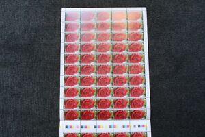 Australia Full Sheet Greetings, Flowers - Love 1994 .45 cent Stamps x 100 - MUH