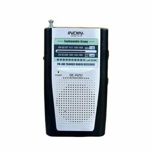 UK Stock - Teeny Tiny Portable AM/FM Receiver Radio  Pocket BC-R20