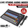 CT-120S 12 Channel USB Professional Live Studio Audio Mixer Power Mixing Console