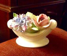 "Vintage ""Royal Doulton"" Fine Bone China Flower Bouquet in Bowl"