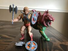 1981 He-man Battle Cat Masters of the Universe Vintage Complete Taiwan SOFT Head