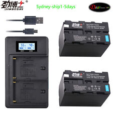 2Pc NP-F970 NP F970 Battery+LCD Charger for SONY F960 F550 F970 F570 CCD-RV100
