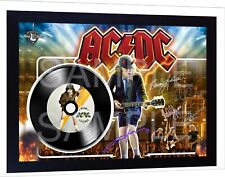 ACDC AC/DC High Voltage SIGNED FRAMED PHOTO PRINT Mini LP Perfect Gift #2