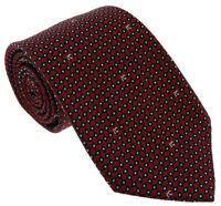 Roberto Cavalli ESZ041 02000 Red Micro Geometric Tie