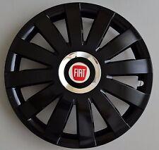 "Fiat.... Set of 4 x 16""  Wheel Trims / Covers, Hub Caps ,Quantity 4,black&silver"