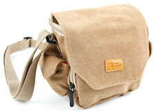 Tan-Brown Medium Canvas Carry Bag for Amazon Basics Micro / Large Speaker
