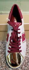 Michael Michael Kors Women's Frankie Stripe Leather SNEAKERS Shoes Size 7