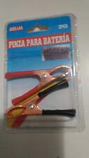 2 pinzas para bateria 7 cms Rojo y Negro