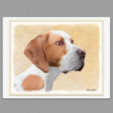6 Pointer Dog Blank Art Note Greeting Cards