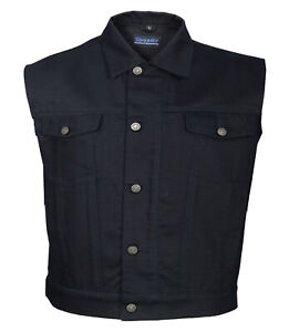 JEANS WESTE / VEST Deep Black Denim PREMIUM EDITION Waistcoat Jeansweste schwarz