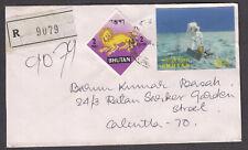 R Brief  von Bhutan nach Calkutta/Indien, schöne Frankatur