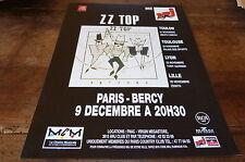 ZZ TOP - PARIS BERCY!!!!!!!!!!!!!!1 FRENCH PRESS ADVERT