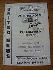 14/11/1987 Petersfield United v Maidenhead United  (Item in very good condition,