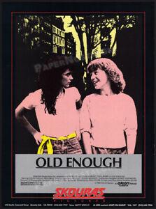 OLD ENOUGH__Orig. 1985 Trade Print AD / ADVERT__Rainbow Harvest__ALYSSA MILANO