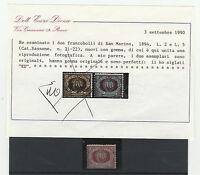 FRANCOBOLLI 1894 SAN MARINO STEMMA L. 5  MLH C/4696