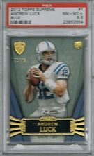 2012 Topps ANDREW LUCK # 1 Supreme Blue #d 30/96 (PSA 8.5 NM-MT+) RC Rookie