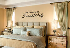 BEST FRIENDS FOR LIFE HUSBAND & WIFE Wall Art Decal Quote Vinyl Lettering Decor