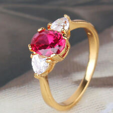 Nice-looking ruby 24k yellow gold filled amazing party ring SzJ-SzR