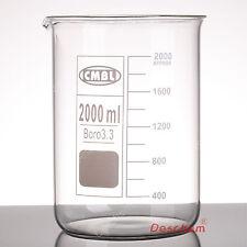 2000mL Borosilicate Glass Beaker,2L Low Form,Spout-Mouth,Borosilicate Labware