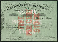 Canada: Grand Trunk Railway Co. of Canada, 2nd PREF Stock, 1906