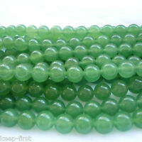 "6mm Natural Light Green Jadeite Jade Round Gemstone Loose Beads 15"" Strand AAA"