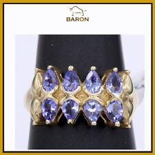 ESTATE RING 14K GOLD & DIAMONDS COCKTAIL ring SIZE 6.5 (md 53)