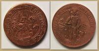 Medaille Nachprägung des Guldiners 1486 Haus Habsburg Erzherzog Kupfer sf
