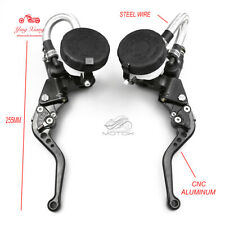 7/8'' for Suzuki Motorcycle Clutch Brake Levers Master Cylinder Reservoir Set