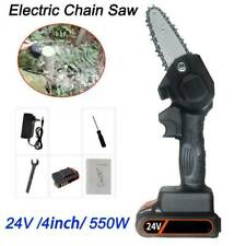 24V 550W Mini One-Hand Saw Woodworking Electric Chain Saw Wood Cutter Cordless
