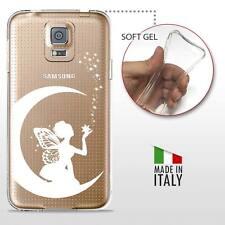 Samsung Galaxy S5 TPU CASE COVER PROTETTIVA GEL TRASPARENTE Disney Fata Bianca