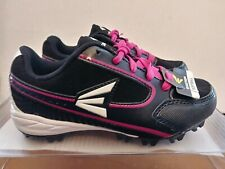Easton Girls Softball Baseball Cleats Shoes Size 13 Black White Pink NEW