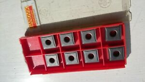8 Sandvik cermet inserts SNMG 12 04 08-QF 5015 ( SNMG120408 120408 SNMG432 432