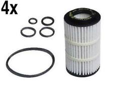 Mercedes (98-12) SYNTHETIC Oil Filter Kit (x4) MAHLE w203 w209 w210 w211 w220