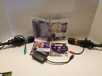 SingStar Vol. 2 PS3 Bundle w/ 2 Microphones & Dongle Converter Tested