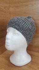 Woolen Hat Beanie Winter Warm Dark Grey Marl  Womens Made in Scotland  #1