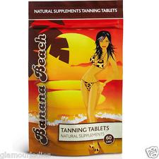 Banana Beach Tanning Health Tablets 60 Capsules Natural Supplements Sun Tan