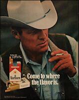 1971 Marlboro man cowboy cigarettes smoking packs vintage photo Print Ad adL9