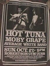 HOT TUNA JORMA KAUKONEN MOBY GRAPE VINTAGE CONCERT POSTER  ART UCSB 70s 1977 CA.