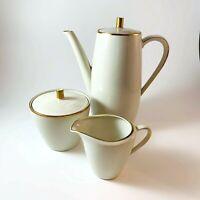 Vintage Seltmann Weiden K Bavaria Coffee Tea Set Creamer Sugar Bowl Ivory Roma